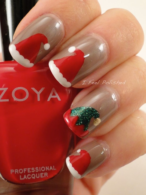 Simple Winter Nail art Ideas for Short Nails (11)