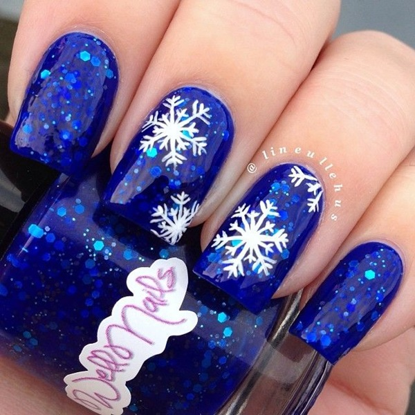 Simple Winter Nail art Ideas for Short Nails (12)