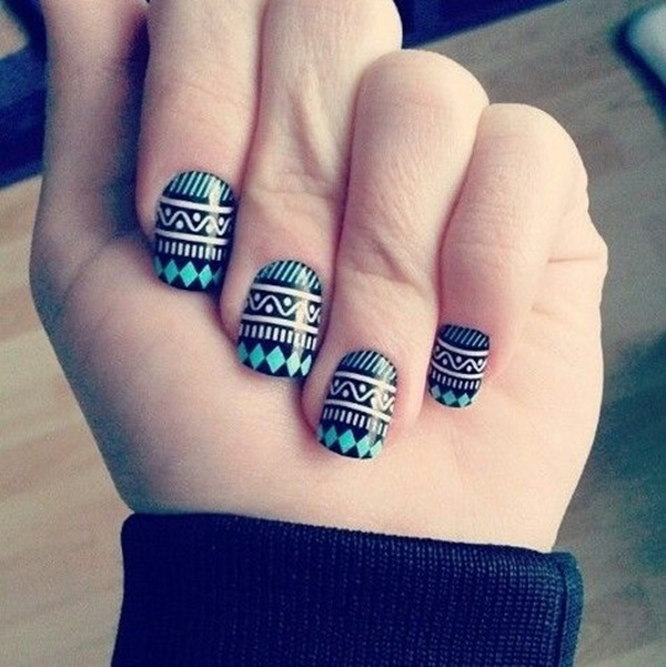 Simple Winter Nail art Ideas for Short Nails (13)