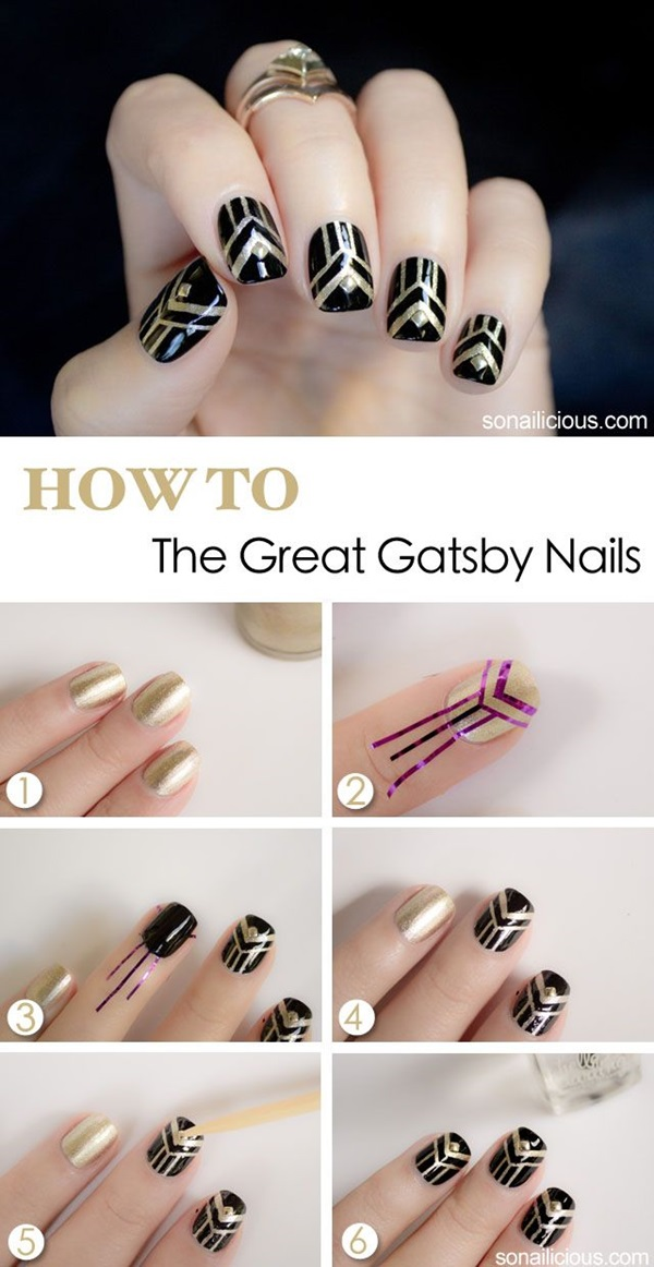 Simple Winter Nail art Ideas for Short Nails (14)