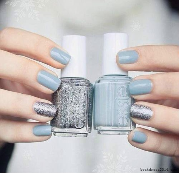 Simple Winter Nail art Ideas for Short Nails (16)