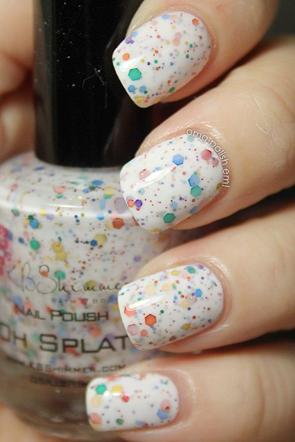 Simple Winter Nail art Ideas for Short Nails (19)