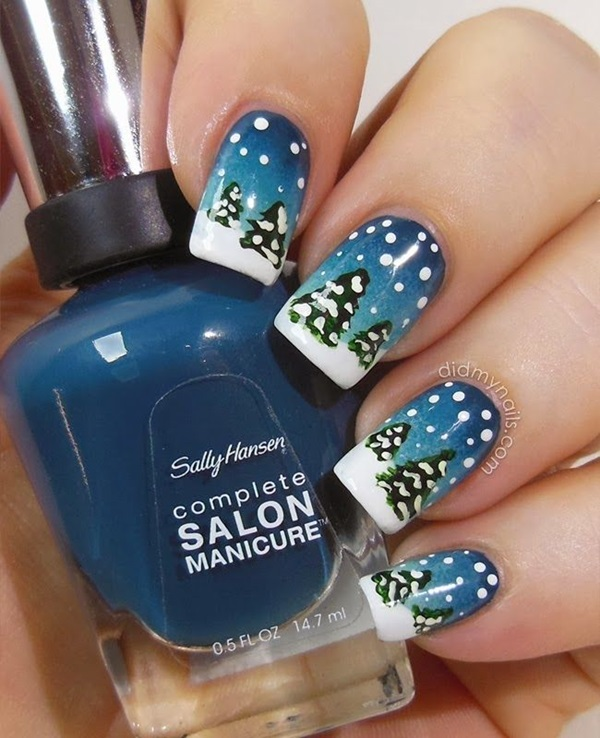 Simple Winter Nail art Ideas for Short Nails (2)