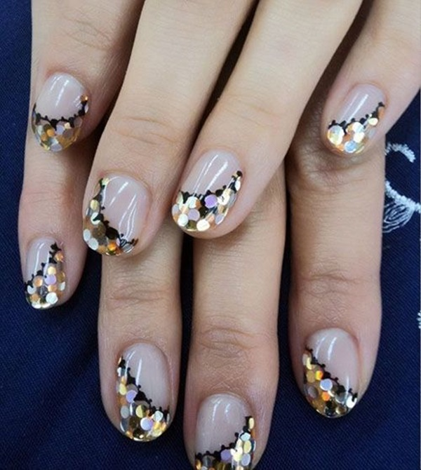 Simple Winter Nail art Ideas for Short Nails (23)