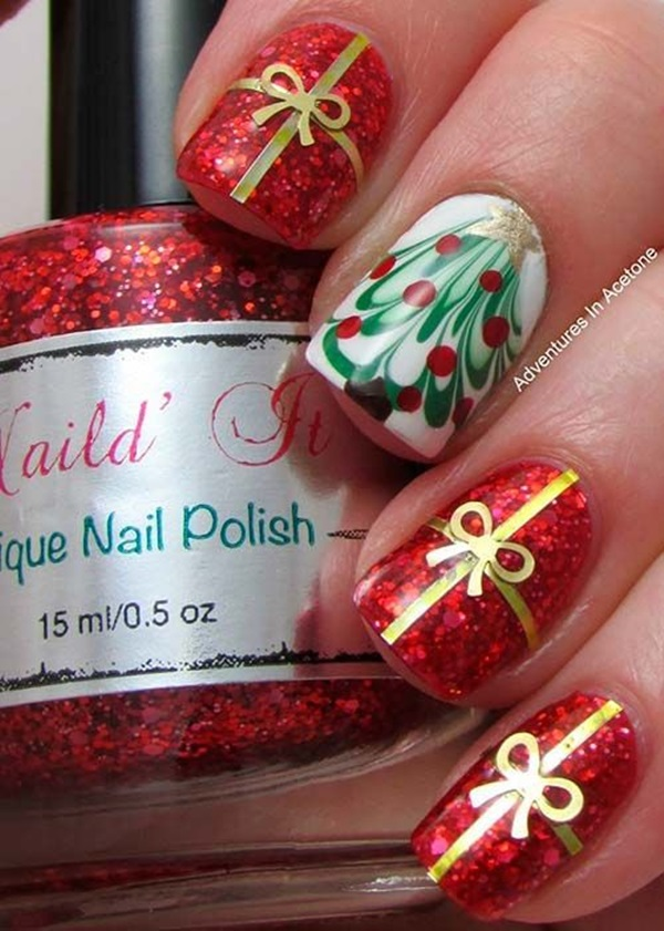Simple Winter Nail art Ideas for Short Nails (24)