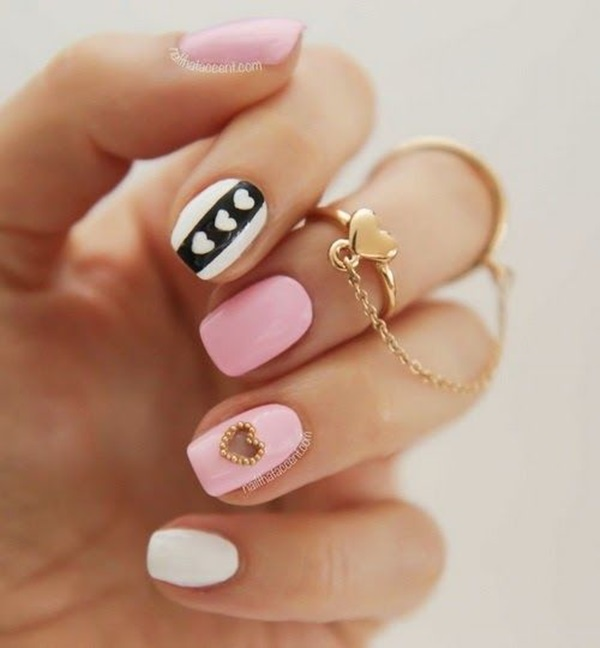 Simple Winter Nail art Ideas for Short Nails (3)