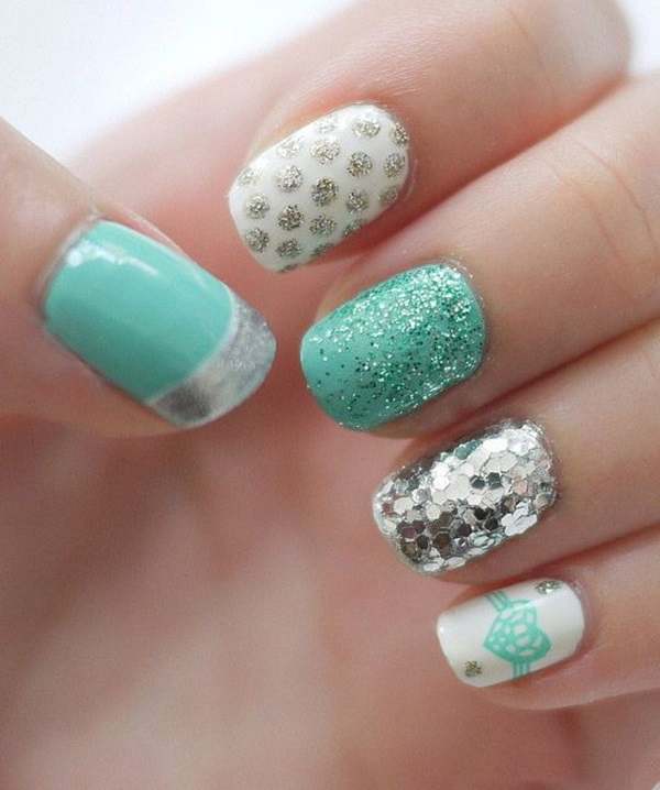 simple winter nail art ideas for short nails 31 - Ideas For Nail Designs