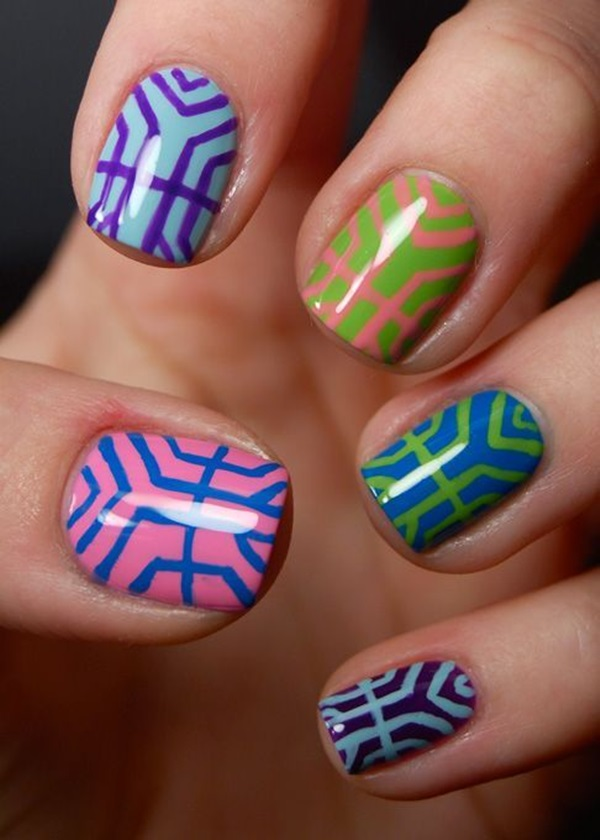 Simple Winter Nail art Ideas for Short Nails (38)