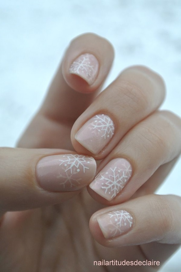 Simple Winter Nail art Ideas for Short Nails (40)