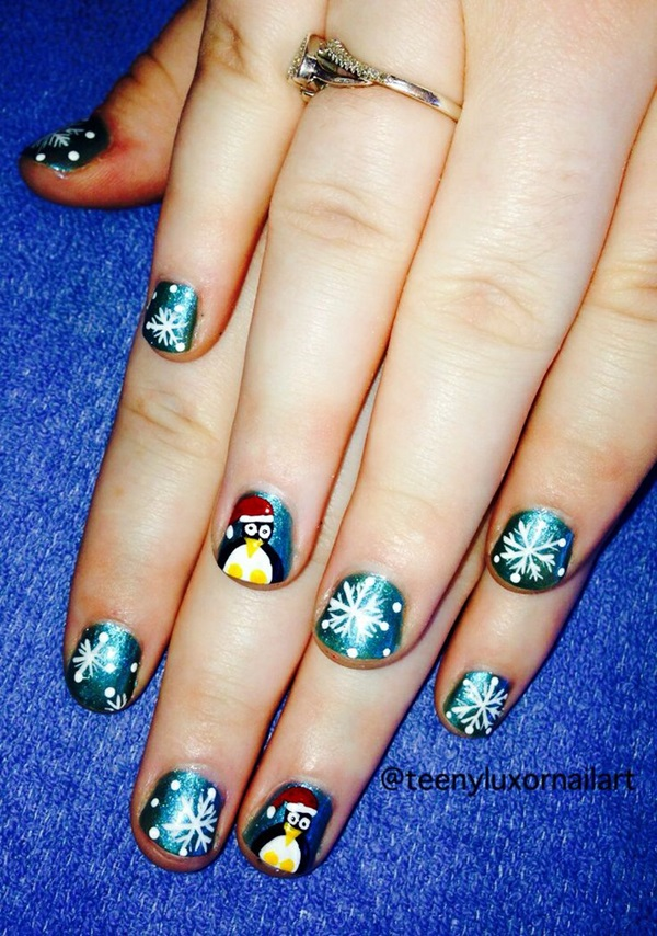 Simple Winter Nail art Ideas for Short Nails (42)