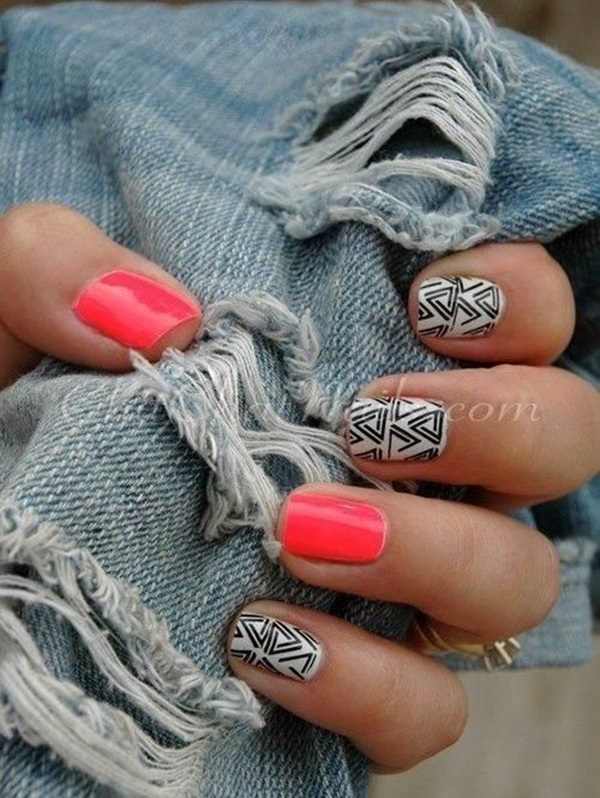 Simple Winter Nail art Ideas for Short Nails (45)