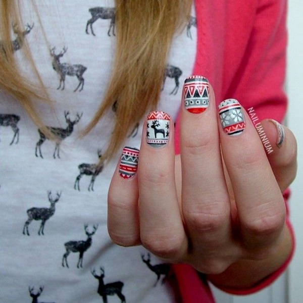 Simple Winter Nail art Ideas for Short Nails (47)