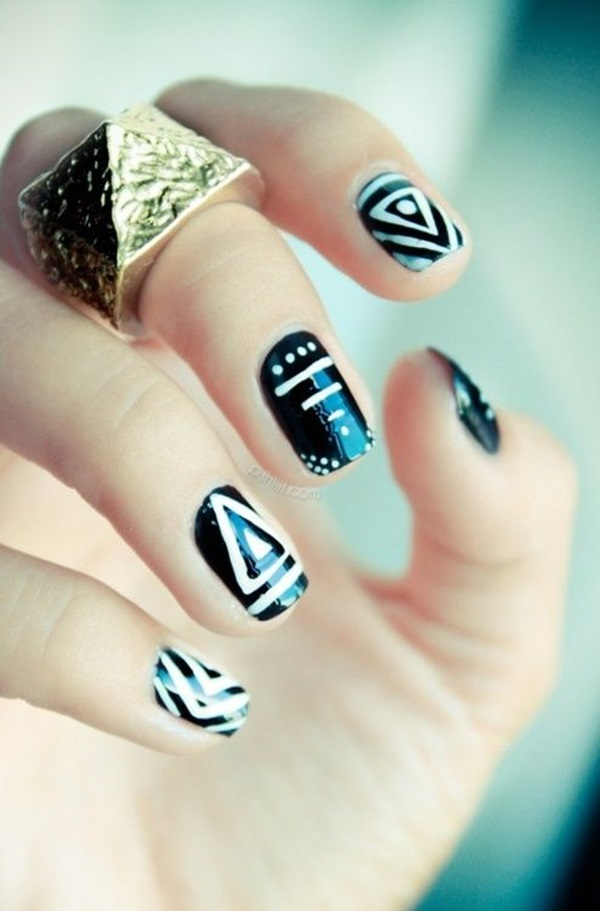 Simple Winter Nail art Ideas for Short Nails (5)