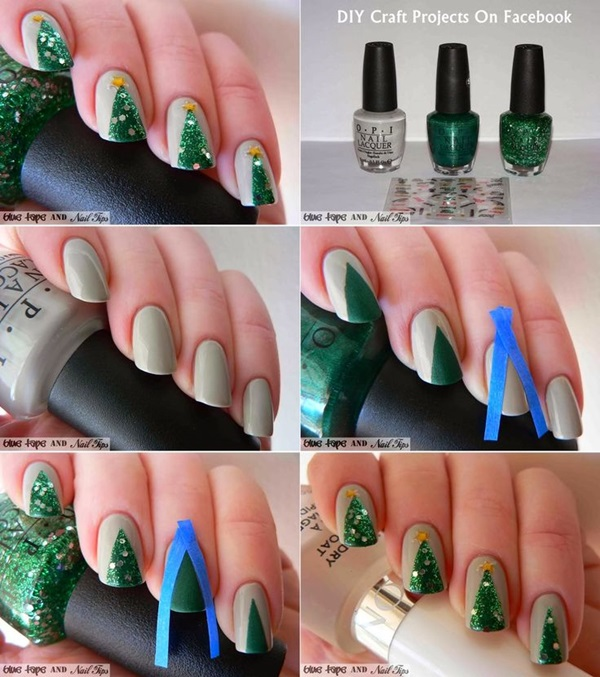 Simple Winter Nail art Ideas for Short Nails (50)
