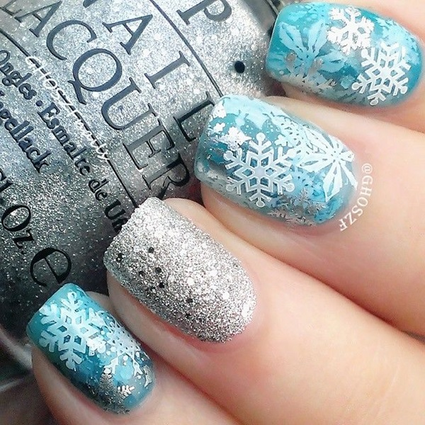 Simple Winter Nail art Ideas for Short Nails (51) - 101 Simple Winter Nail Art Ideas For Short Nails