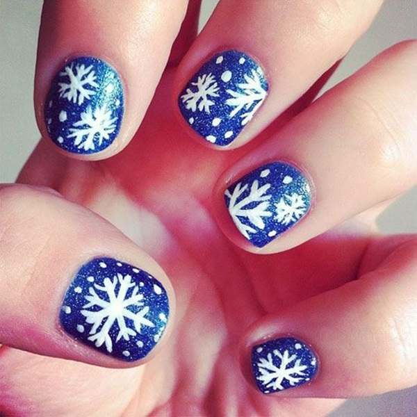 Simple Winter Nail art Ideas for Short Nails (52)