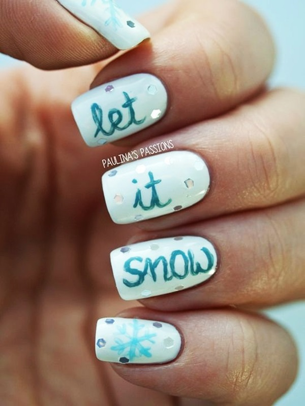 Simple Winter Nail art Ideas for Short Nails (54)