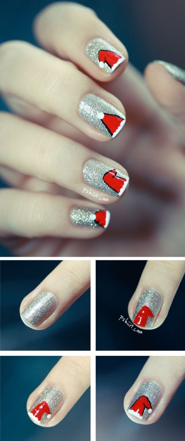 Simple Winter Nail art Ideas for Short Nails (56)