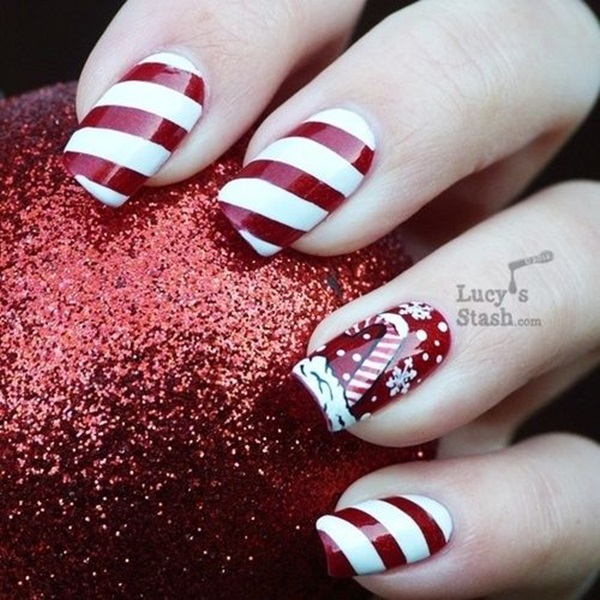 Simple Winter Nail art Ideas for Short Nails (57)
