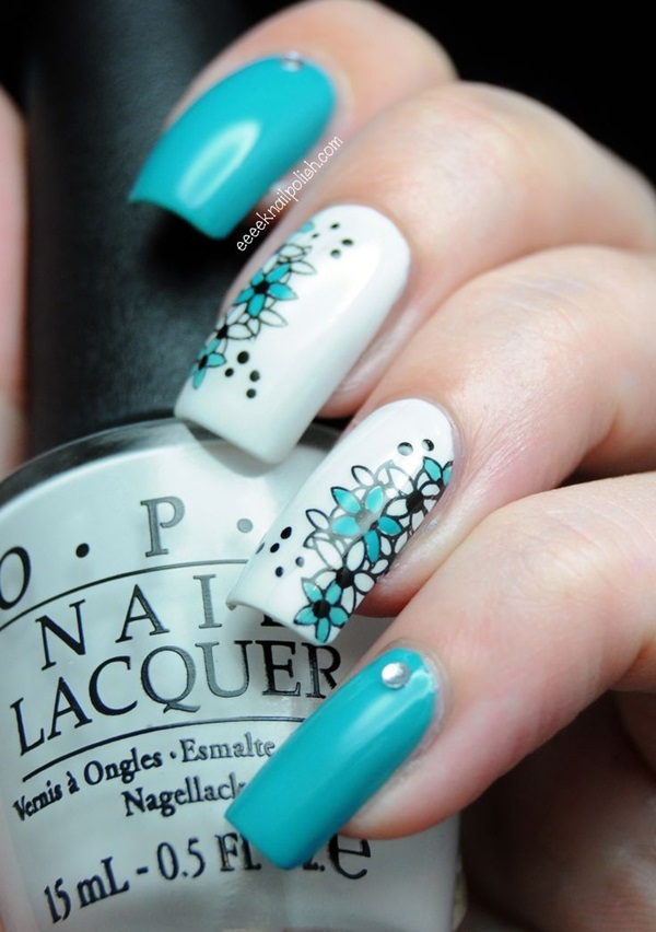 Simple Winter Nail art Ideas for Short Nails (58)