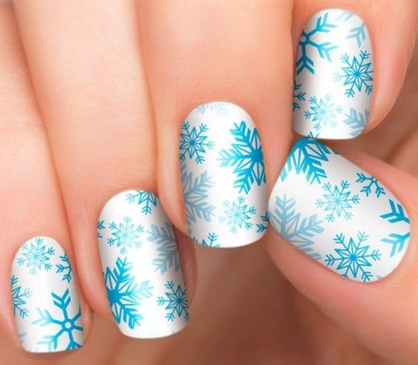 Simple Winter Nail art Ideas for Short Nails (59)