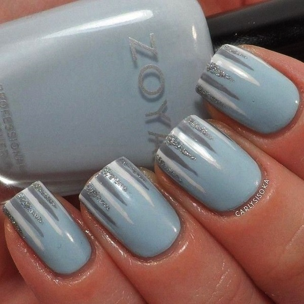 Simple Winter Nail art Ideas for Short Nails (62)