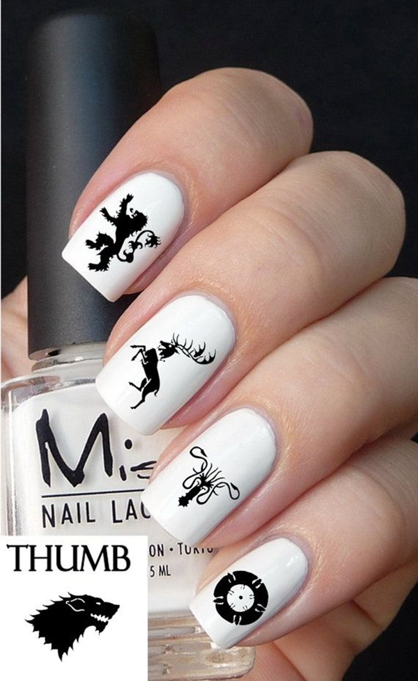 Simple Winter Nail art Ideas for Short Nails (63)