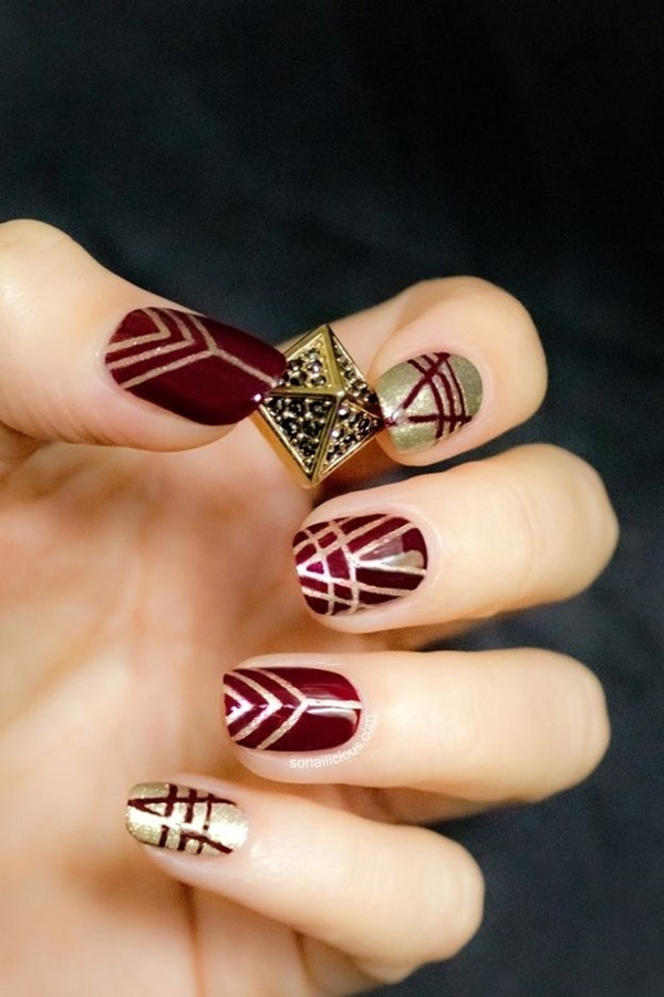 Simple Winter Nail art Ideas for Short Nails (65)