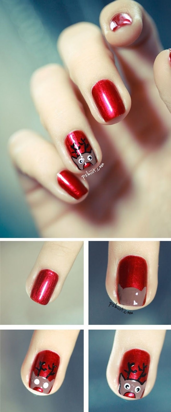 Simple Winter Nail art Ideas for Short Nails (66)