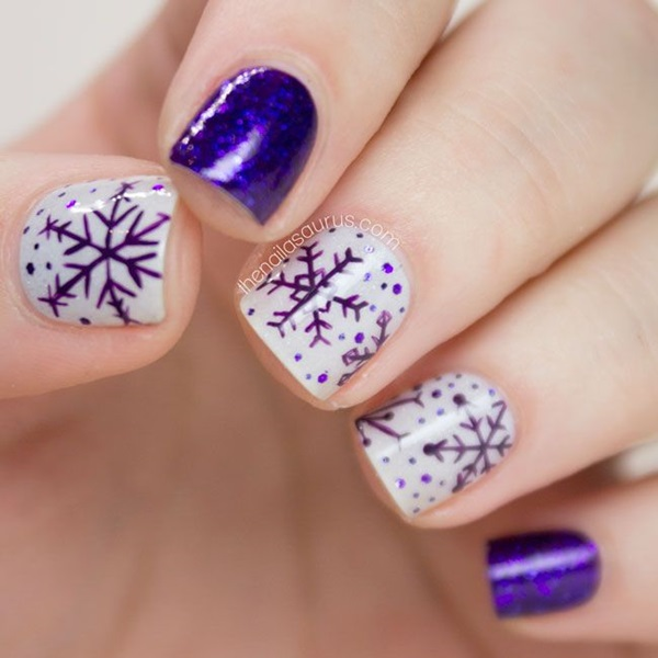 Simple Winter Nail art Ideas for Short Nails (7) - 101 Simple Winter Nail Art Ideas For Short Nails