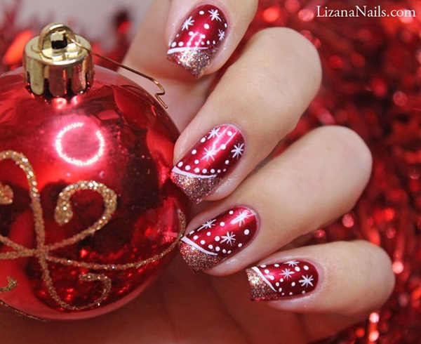 Simple Winter Nail art Ideas for Short Nails (71)