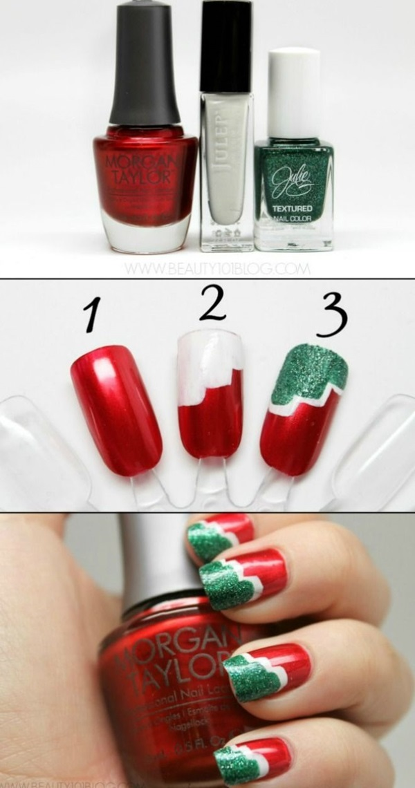 Simple Winter Nail art Ideas for Short Nails (72)