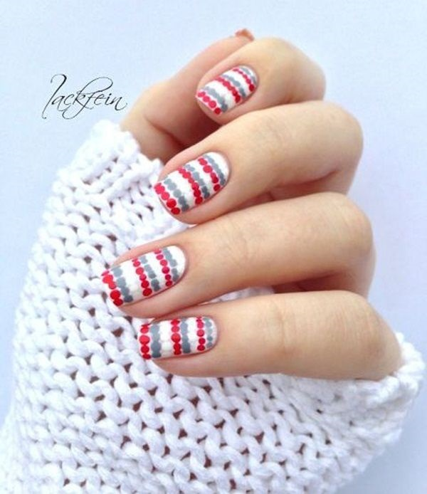 Simple Winter Nail art Ideas for Short Nails (74)
