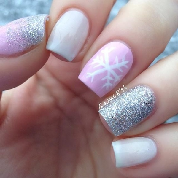 Simple Winter Nail art Ideas for Short Nails (75)