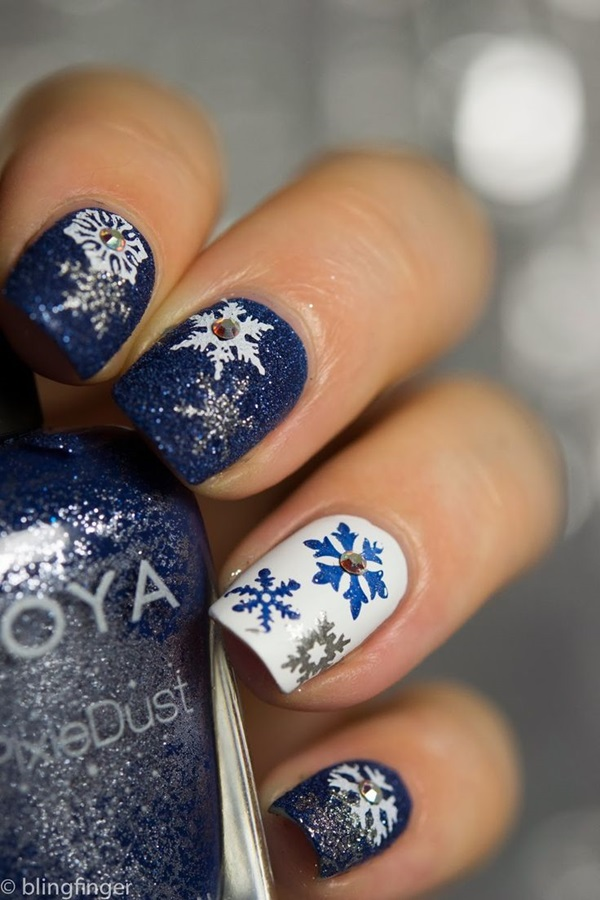 Simple Winter Nail art Ideas for Short Nails (77) - 101 Simple Winter Nail Art Ideas For Short Nails