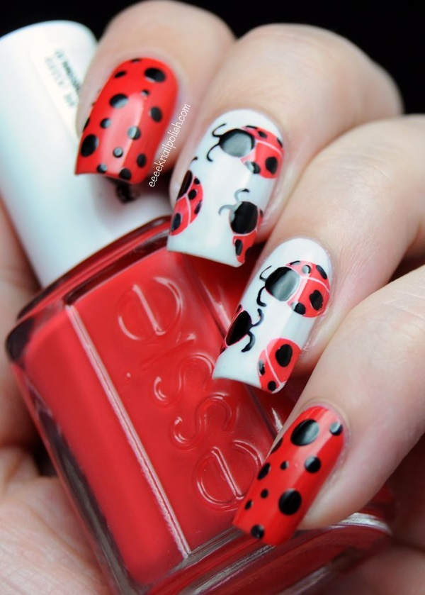 Simple Winter Nail art Ideas for Short Nails (78)