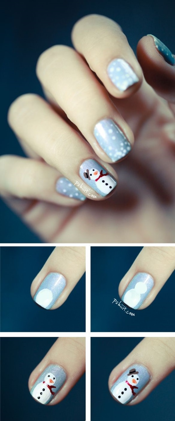 Simple Winter Nail art Ideas for Short Nails (79)