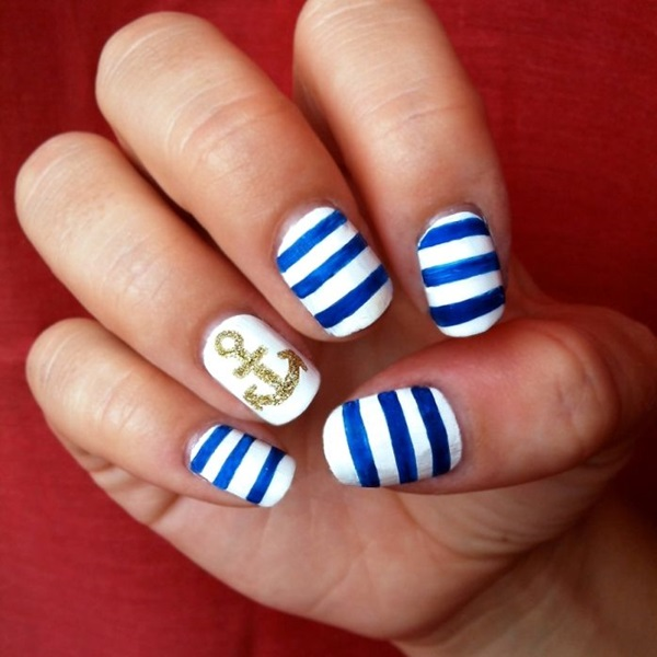 Simple Winter Nail art Ideas for Short Nails (80) - 101 Simple Winter Nail Art Ideas For Short Nails