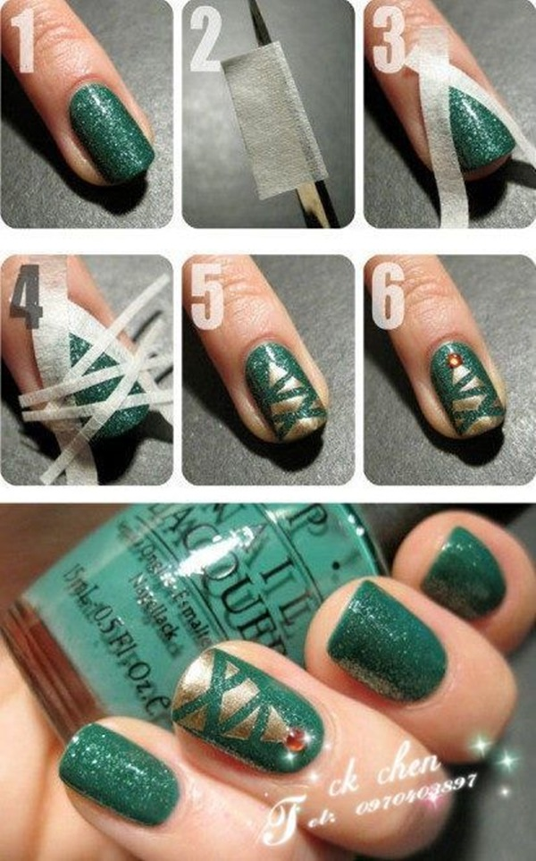 Simple Winter Nail art Ideas for Short Nails (82)