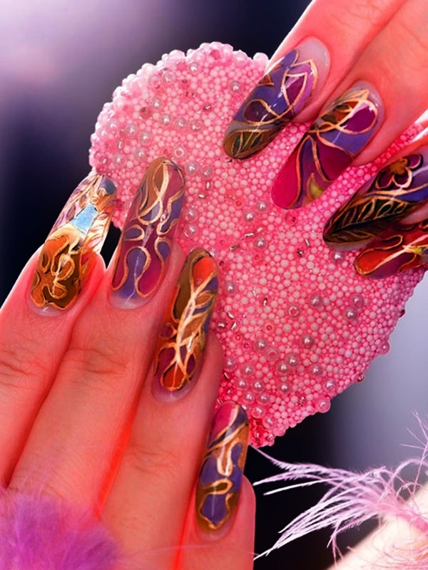 Simple Winter Nail art Ideas for Short Nails (83)
