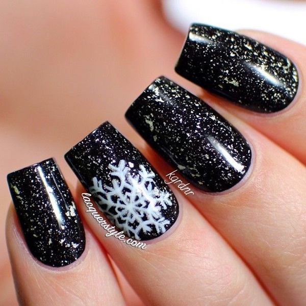 Simple Winter Nail art Ideas for Short Nails (85)