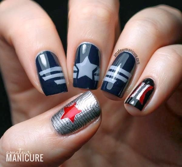 Simple Winter Nail art Ideas for Short Nails (87)