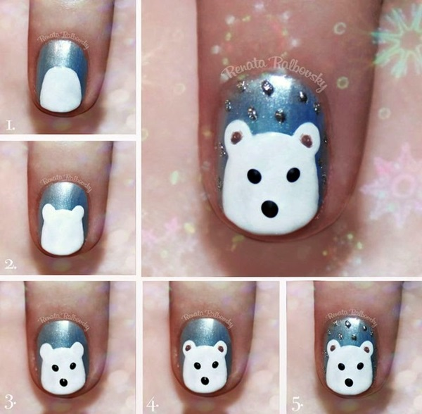 Simple Winter Nail art Ideas for Short Nails (9)