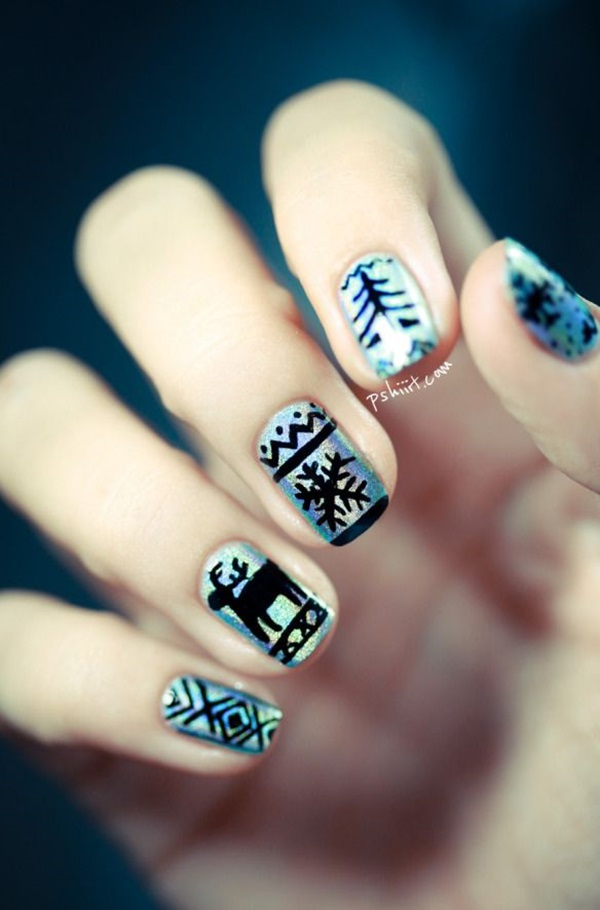 Simple Winter Nail art Ideas for Short Nails (90)
