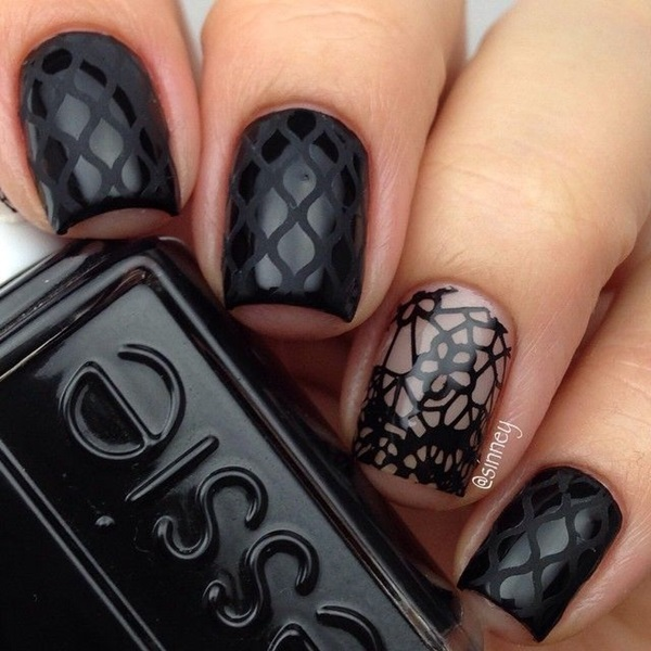 Simple Winter Nail art Ideas for Short Nails (94)