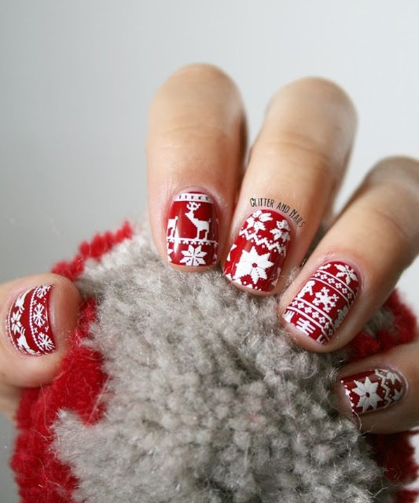 Simple Winter Nail art Ideas for Short Nails (96)