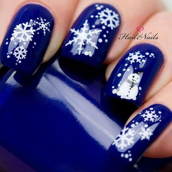 Simple Winter Nail art Ideas for Short Nails (97)