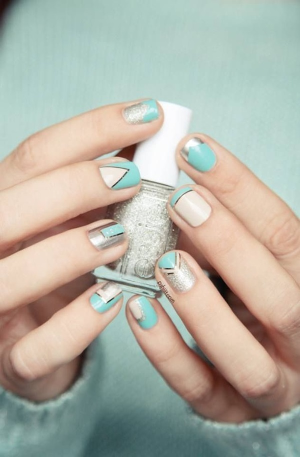 Simple Winter Nail art Ideas for Short Nails (98)