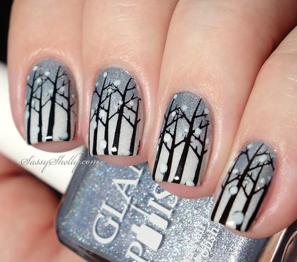 Simple Winter Nail art Ideas for Short Nails (99)