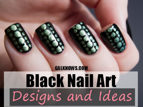 815db4b80 Best 101 Sophisticated Black Nail Art Designs and Ideas